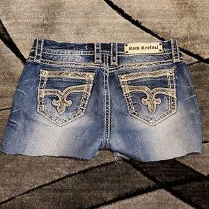 Rock revival cut-off shorts